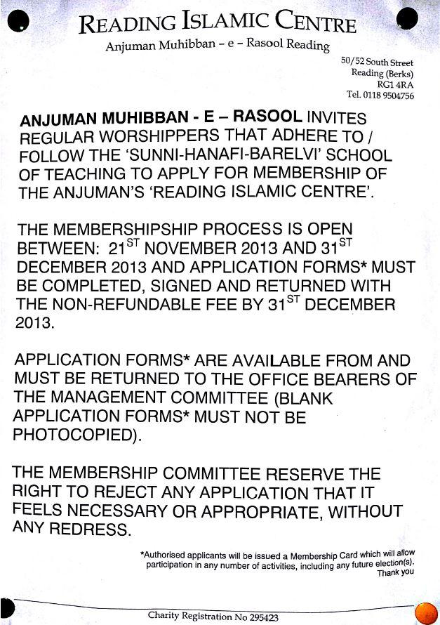 Noticeboard Membership forms Amity